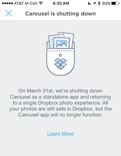 Dropbox is shutting down Carousel. Here's what that means and how to still have your photos backed up to the cloud...
