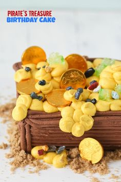 Pirate's Treasure Birthday Cake -- simple step by step instructions to make it!