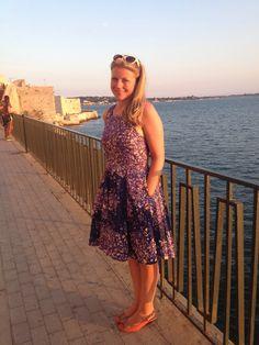 By Hand London Flora dress in Nani Iro double gauze, fully lined