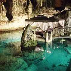 Yeah, that's a spa, in a cave. Sign us up. http://www.thecoveteur.com/shiona-turini-bermuda-guide/