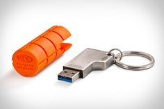LaCie RuggedKey - Looks like a good way to keep important data close at hand.