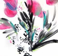 Joy Floral I Abstract Painting