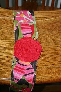 Red rose fabric headband