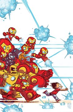 Armor Wars #1 variant cover by Skottie Young *
