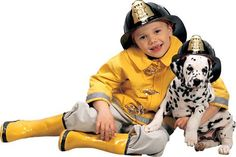Kids Fireman Halloween Costume