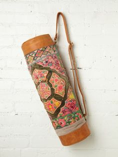 Antique Textile and Leather Yoga Bag. $568?? No. But it is gorgeous.