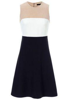 Sleeveless Zipper Chiffon Dress