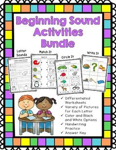 This is great practice for students learning their letter sounds and identifying the beginning sound in words.  It can also be used as a review of beginning sounds at the beginning of the school year.