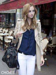 Blue Lapel Chiffon Shirt | Choies