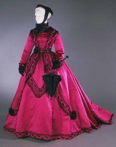 beautiful pink dress 1860's