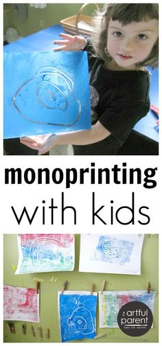 Monoprinting with Kids :: The Best Way