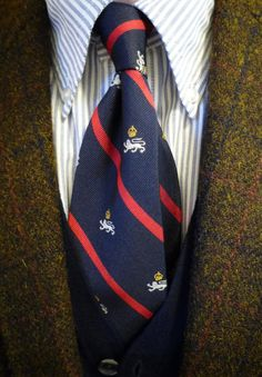 Candy Stripe Thursday. Brooks Brothers Harris Tweed jacket, Brooksweave Candy Stripe shirt, Polo Olympic team tie, but I call it the  'Lion of Judah' tie. Positive Vibrations.
