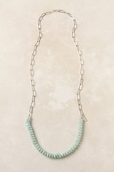 Silver and amazonite Anthropologie necklace