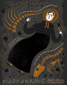 Women in Science: Mary Anning by Rachelignotofsky on Etsy