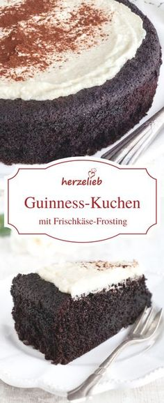 Dieser Guinness Kuchen schmeckt nicht nur zum St. Patricks Day! Auch zum Geburtstag oder Vatertag ist dieses Rezept ein echter Knaller! Bier Rezepte liegen mmir ganz besonders am Herzen und dieser Kuchen ist einfach der Knaller! Einfach mal backen un genießen. Wer Schokolade mag, wird diesen Schokoladen Kuchen lieben ! Rezept von herzelieb