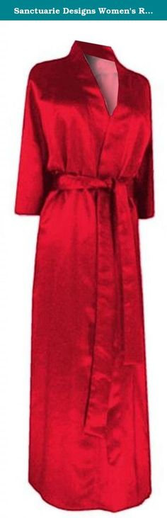 Sanctuarie Designs Women's Red Satin Plus Size Supersize Robe/5x6x/Red/. Women's Plus Size & Supersize Satin Sleepwear Robe. Our sizes differ from most stores. Please look at our size chart in the product description for the following: Bust(Chest), Hips and Length measurements. Available in plus & supersizes from 0x to 9x! This style is very flattering! It is machine washable, and travels great! Very comfy and glamorous robe, perfect for a gift to give or keep for yourself.
