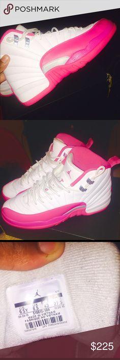 Jordan 12 Dynamic Pink Great condition 100000% authentic Jordan Shoes Sneakers