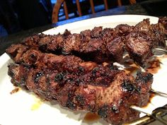 Old Farmhouse Cooking: Chislic ~ Cowboy Candy ~ Beef Kabobs