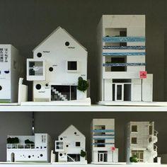 模型。店舗付き住宅。建築・店舗デザイン;名古屋 スーパーボギー http://www.bogey.co.jp