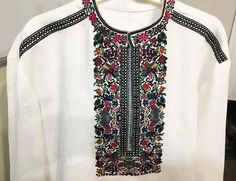 Embroidered shirt by GN-Atelier. Visit us on https://www.facebook.com/GN_design-1617224841891321