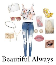 """""""Always Be You!!!"""" by jujubees51901 on Polyvore featuring New Look, Michael Kors, Lipsy, Charlotte Russe, Kate Spade and Lime Crime"""