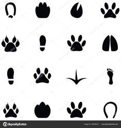 Stáhnout - Sada ikon stopa — Stocková ilustrace Icon Set, Abstract, Illustration, Artwork, Free, Summary, Work Of Art, Auguste Rodin Artwork, Artworks