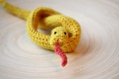 Knitted snake by mmthings on Etsy, $12.00