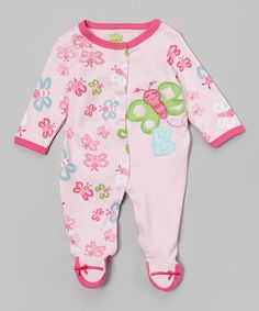 Look at this Pink Butterfly Footie - Infant on #zulily today!