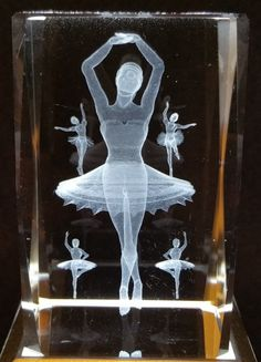 Balerina 1 - Generic 3D Crystals - Ovid Gifts