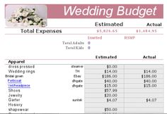 The best way to get through planning your wedding is to be smart. Budget everything that you can think of especially if you are doing a lot of it yourself.    This excel sheet has:        Smart budget sheet      Guest list      Intinarary      Contacts      and more!    By Wedding Asks
