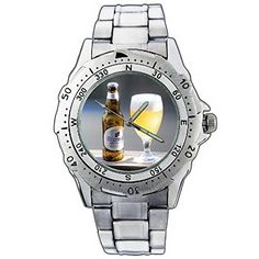 XZE011139 Hoegaarden Witbier Beer Bottle Cold Cool Stainless Steel Wrist Watch ** You can find out more details at the link of the image.