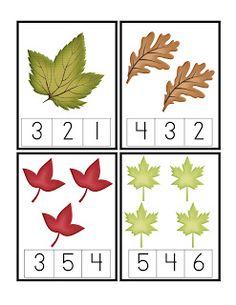 Preschool Printables: Leaves Number Cards Printable