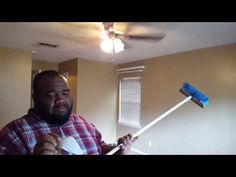 How to clean a popcorn ceiling without water or cleaning products - YouTube