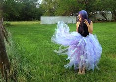 Pastel Lavender Lilac full length long adult tutu skirt - great for Halloween!