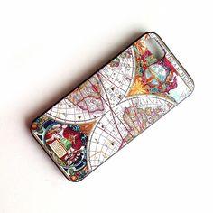 Vintage Ethnische Muster Schutzhülle für Apple iPhone 5 / 5S Hülle Hart Case Rückschale Schutz Hülle Case (1 Stück) -Nautische Karten: Amazon.de: Elektronik