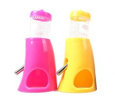 2pcs x Pet Hideout Water Dispenser,Omont 2-in-1 Small Animal Hideout 80ML for Hamster and Mouse