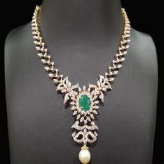 Diamond - For details please call at 919966463344 (whatsapp number) or… Diamond Necklace Set, Locket Necklace, Stone Necklace, Necklaces, Emerald Jewelry, Diamond Jewelry, Gold Jewelry, India Jewelry, Jewellery