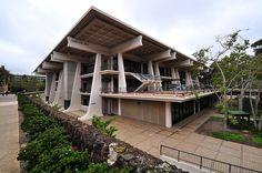 UCSD - Galbraith Hall Architects: Deems & Lewis Location: University of California San Diego (La Jolla) Revelle College Berkeley Architecture, University Architecture, Education Architecture, Modern Architecture, America's Finest, Le Corbusier, Master Plan, Brutalist, San Diego