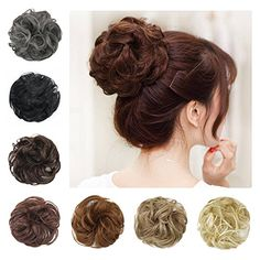 BARSDAR Wavy Curly Messy Bun Updo Hairpiece Scrunchy Scrunchie Ribbon Ponytail Hair ExtensionsHair Piece Donut Synthetic Hair Chignons Wigs for Women --Jet Black #BARSDAR #Wavy #Curly #Messy #Updo #Hairpiece #Scrunchy #Scrunchie #Ribbon #Ponytail #Hair #ExtensionsHair #Piece #Donut #Synthetic #Chignons #Wigs #Women #Black