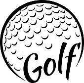 Golf ball text Illustrations ...