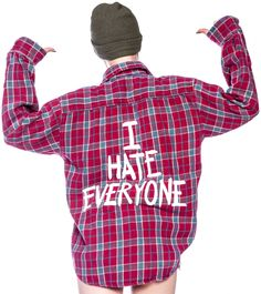Jac Vanek I Hate Everyone Vintage Flannel Shirt | Dolls Kill