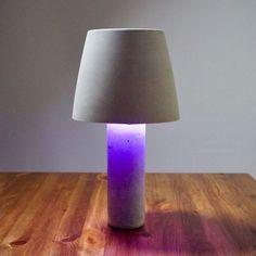 DIY Concrete Lamp Shade Light