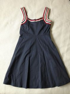 Retro Blue Summer Dress Size 14
