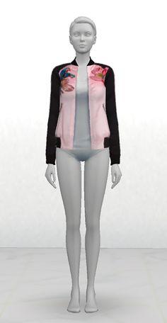 Greenapple18r: V jacket for her • Sims 4 Downloads