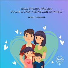 Comparte con tu familia la frase del día. Vida Fem #chalverlaboratorios #temadelasemana #familiaunida