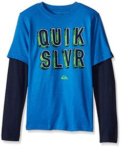 Quiksilver Big Boys Quik Addict Long Sleeve Tee Victoria Blue Heather XLarge -- Details can be found by clicking on the image.Note:It is affiliate link to Amazon.