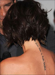 back-view of the beautiful messy/curly posh bob