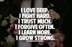 I trusted TOO much....  and learned to trust no one...