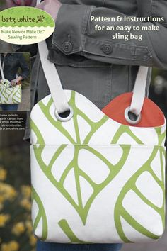 Sidekick Sling Bag by Betz White Pattern Preview 1 | Indiesew.com