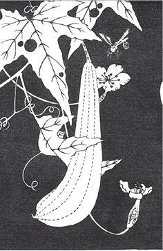 伊藤若冲『糸瓜(へちま)』-拓版摺(額装もできます) - 京都 木版画の販売 Winds!芸艸堂(うんそうどう)/Ukiyo-e, Woodblock print - Winds! UNSODO